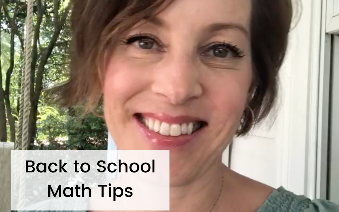 Back to School Math Tips for Kids